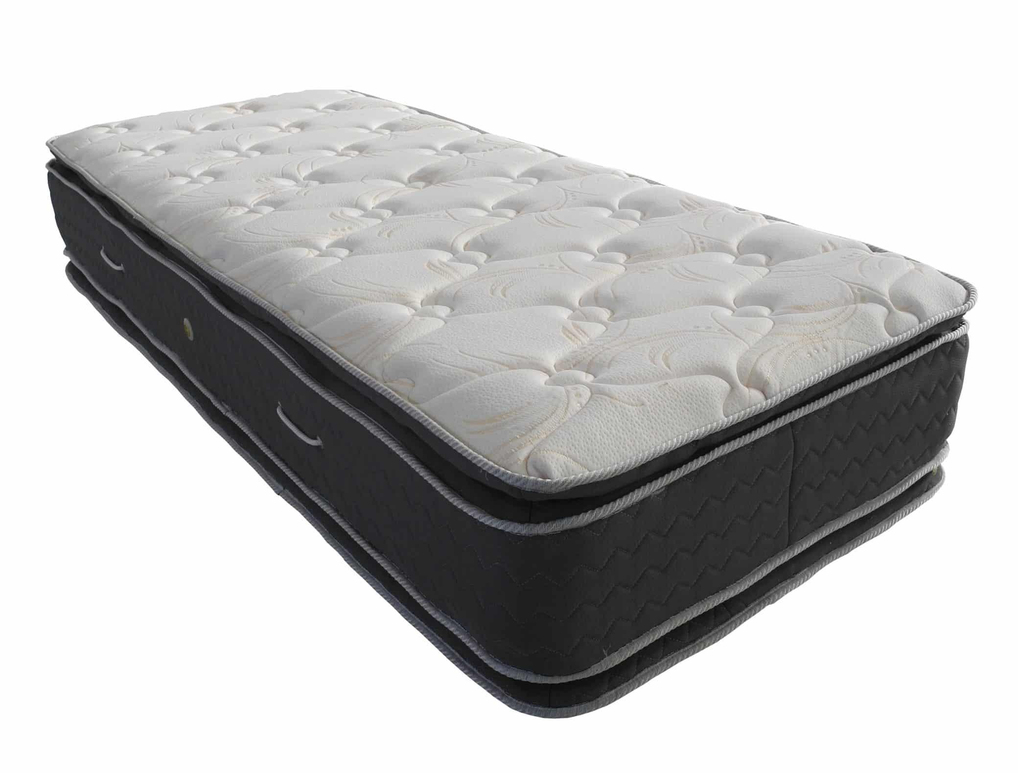 Colch n resortes pacific con doble pillow 190x130 arcoiris - Colchon tatami ...