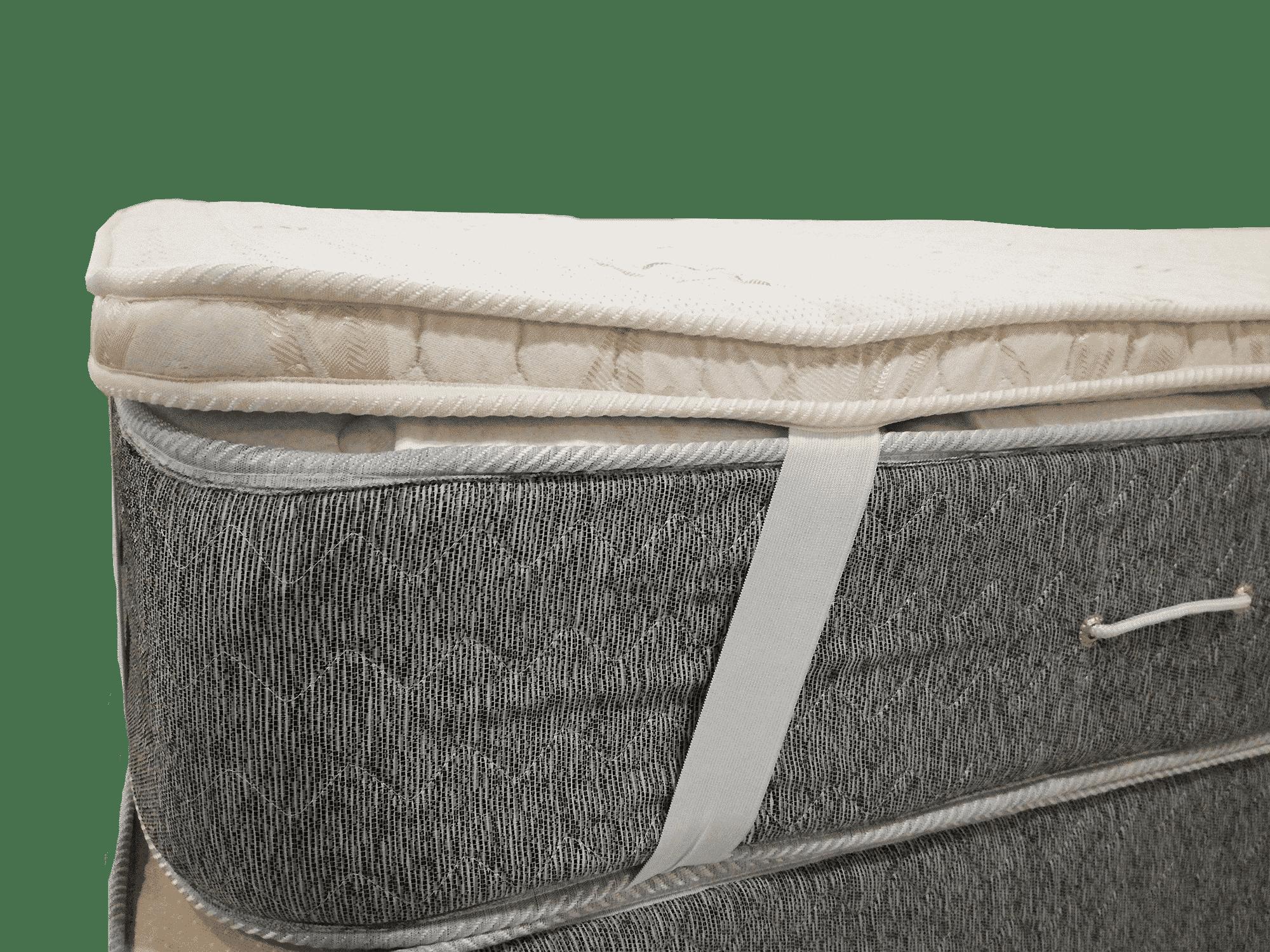 Pillow top viscoelastico desmontable 190 80 arcoiris for Topper para colchon